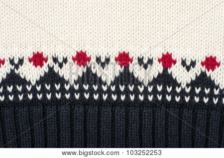 Wool Sweater Pattern As A Background.