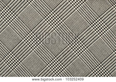 Black And White Houndstooth Pattern In Squares.