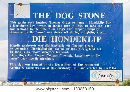Sign Board In Hondklipbaai