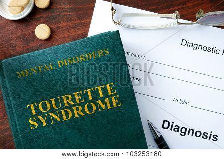 Tourette syndrome concept.