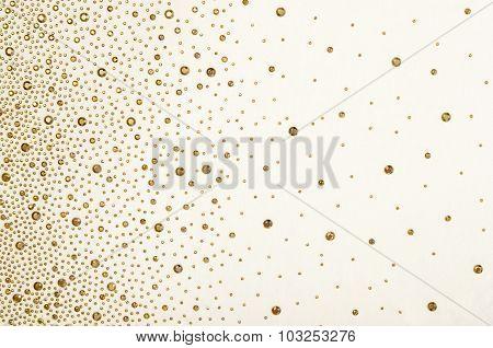 Gold Rhinestones On Fabric.