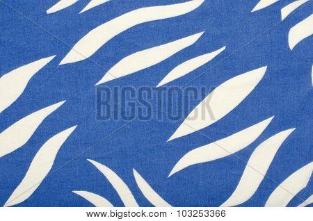 Blue And White Zebra Pattern.