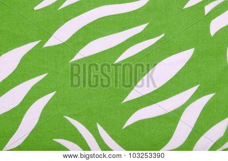 Green And White Zebra Pattern.