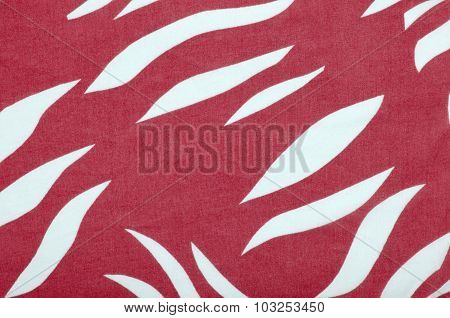 Red And White Zebra Pattern.