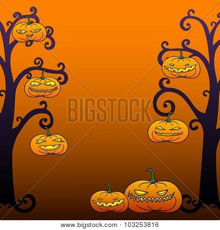 Halloween Tree Frame