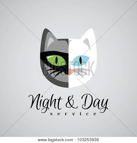 Cat Face Logo Template