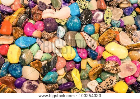 Natural Gemstones Background - Alternative Medicine