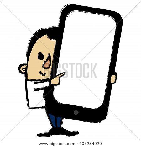 Smart Phone Businessman