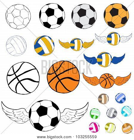 Clipart with balls