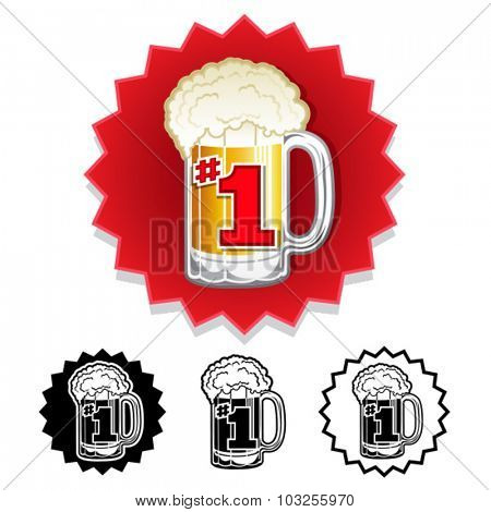The Number One #1 Beer Worldwide seal set