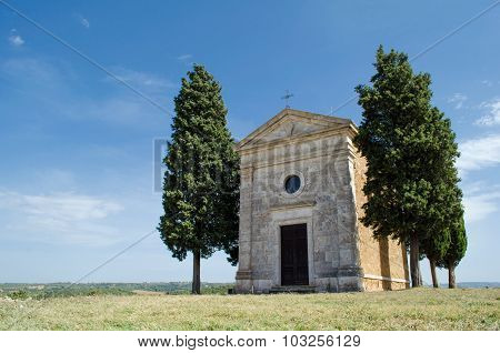 Tuscany Church In Rural Italy