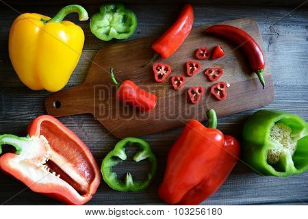 Paprika and chilli pepper