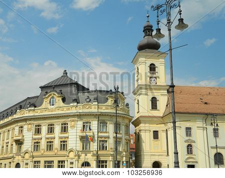 Sibiu Town Hall And City Center