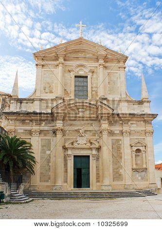 Church Of St. Ignatius In Historic Dubrovnik, Croatia