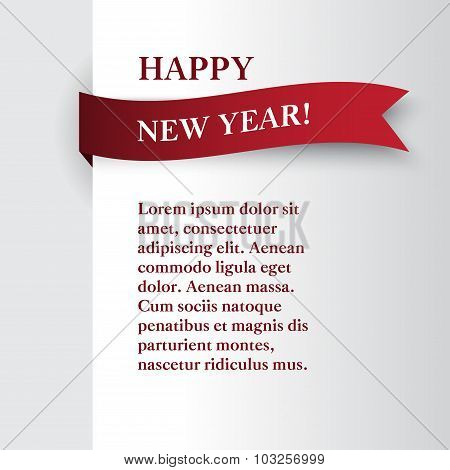 template New Year  card or banner for a website with place for text and greetings.