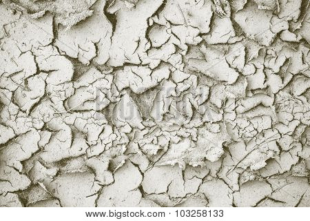 Abstract Dirty Texture Of The Shriveled Sandy Soil