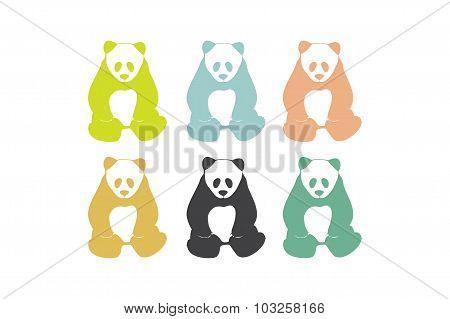 Panda bear silhouettes.