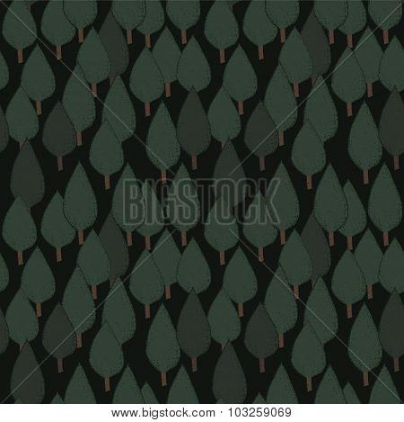 Autumn tree seamless vector pattern