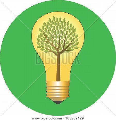 Go Green, Eco Concept. Flat Design.