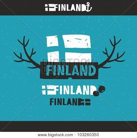 Creative emblem of Finland.