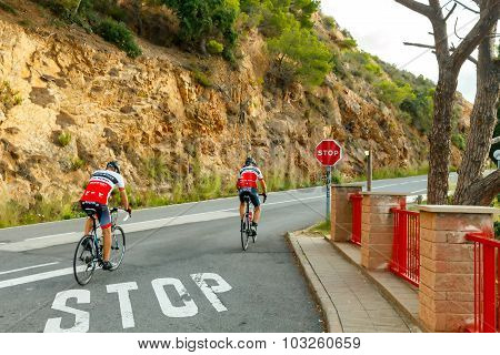 Tossa de Mar. Athlete bicyclist.