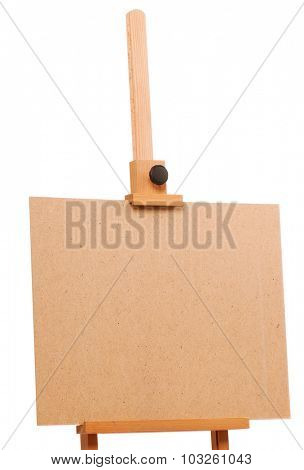 Wooden easel for drawing isolated on white background