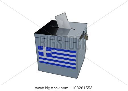 Greek Election Ballot Box