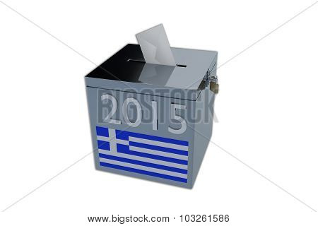Greek 2015 Election Ballot Box