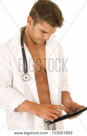 Doctor With Open Jacket Touch Notepad