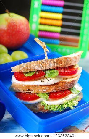 Caprese Sandwich For School