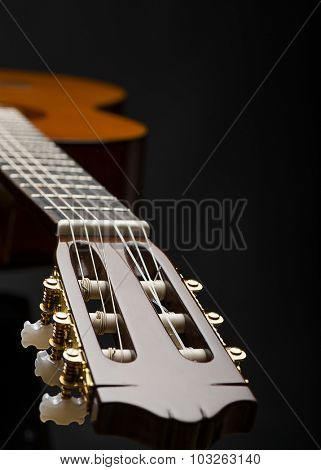 Classical Guitar with Copy Space