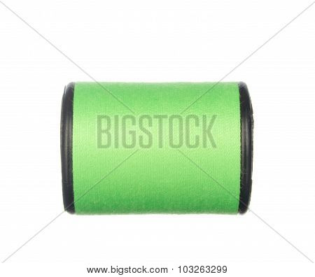Colourful Green Thread Isolated On White