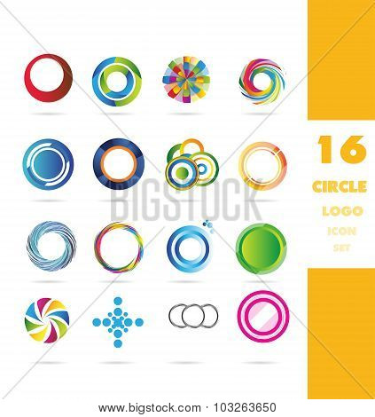 Circle Corporate Logo Icon Set