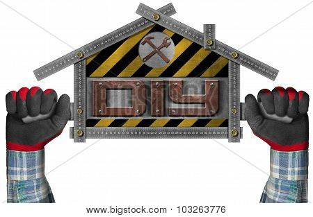 Do It Yourself - Diy -  Sign Shaped House