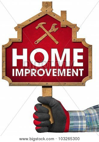 Home Improvement Sign