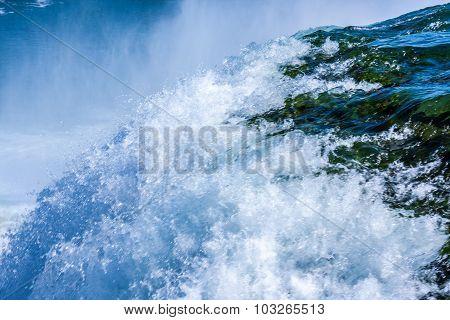 Niagara River Tumbling over the Falls, Closeup