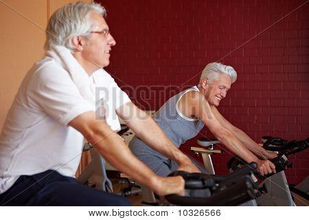 Senior People On Bikes