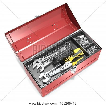 Toolbox And Tools.