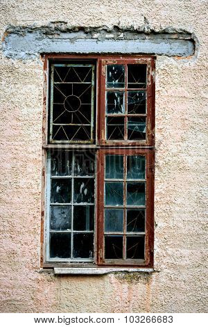 abstract old window of abandoned house