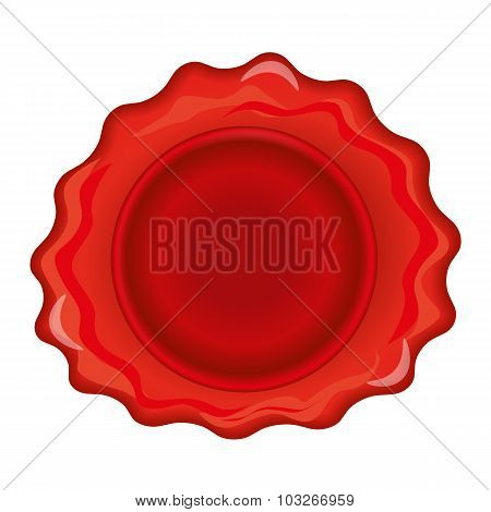 Wax stamp template