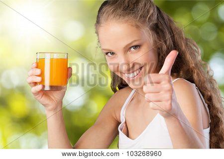 Drinking Juice.