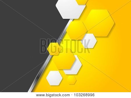 Contrast gradient tech abstract background
