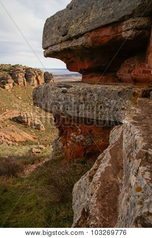 Landscape With Strange Rock Formations At Peracence, Spain