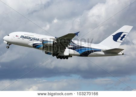 Malaysia Airlines Airbus A380 Airplane
