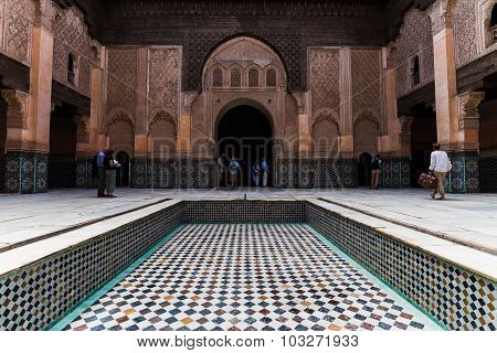 Marrakech, Morocco - Circa September 2015 - The Medersa Ben Youssef In Marrakech