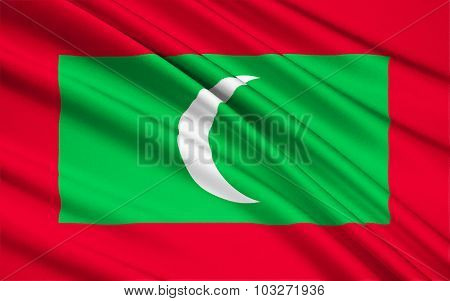 Flag Of The Maldives - Indian Ocean