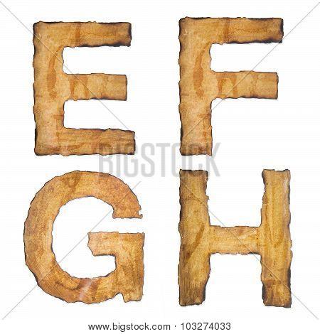 Old, Vintage Alphabet Efgh