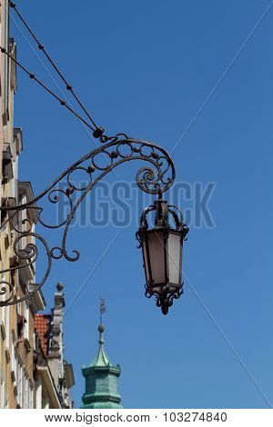 Forged street lamp