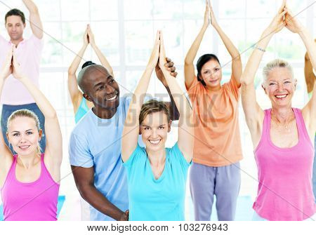 Fitness Health Gym Group Training Exercise Concept