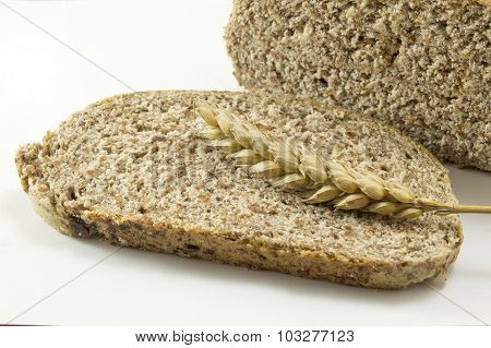 Integra Bread Slices On White Background